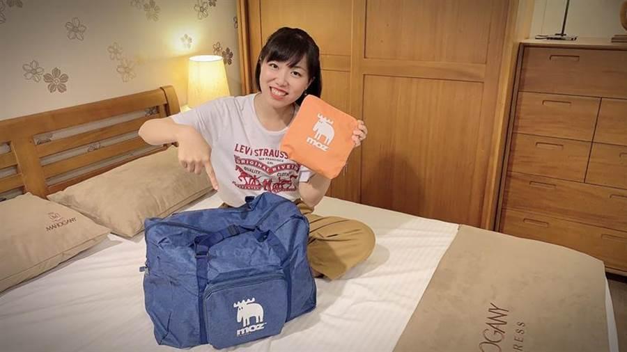 (廣三SOGO大打贈品戰,自5/23起,持Smart Card消費單筆滿千,就送限量旅行收納袋。圖:廣三)