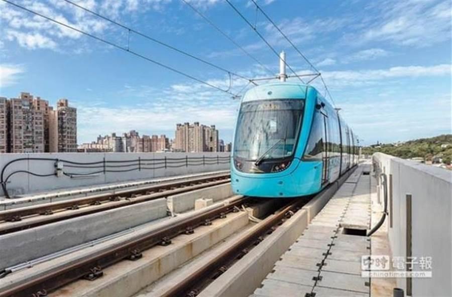 淡海輕軌已正式通車。(本報系資料照片)