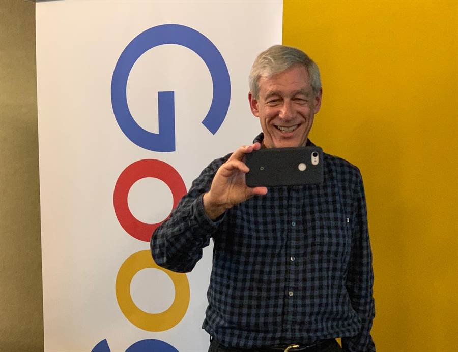 Google 傑出工程師 (Distinguished Engineer) Marc Levoy 。(圖/黃慧雯攝)