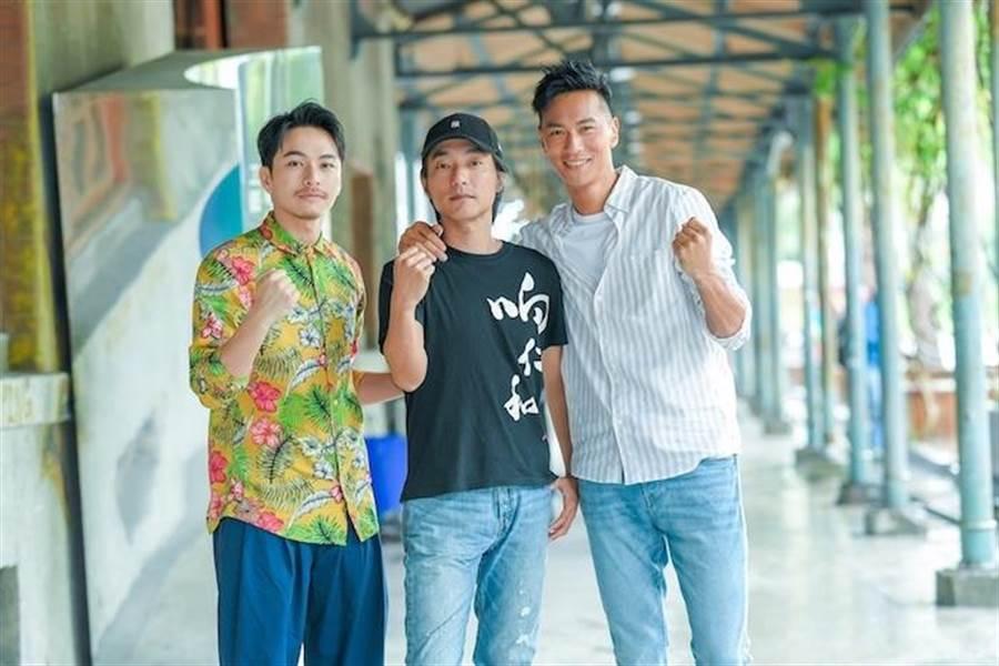 楊銘威(左起)、導演林立書及鍾承翰。盧禕祺攝