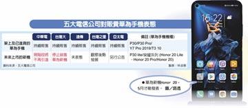 開第一槍 中華電不賣華為新機