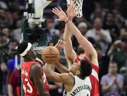 NBA》暴龍逆襲公鹿 凸顯字母哥弱點