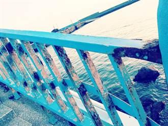苑港漁港鹽害嚴重  彩虹橋鏽蝕斑斑