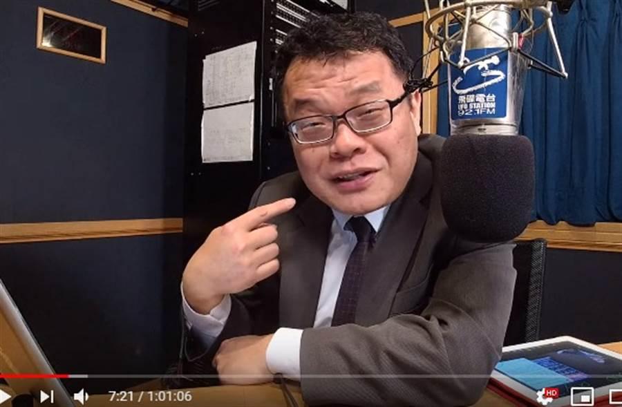 陳揮文昨晚在節目指著自己向聽眾確認:你要我勸黃光芹?(取自YouTube)