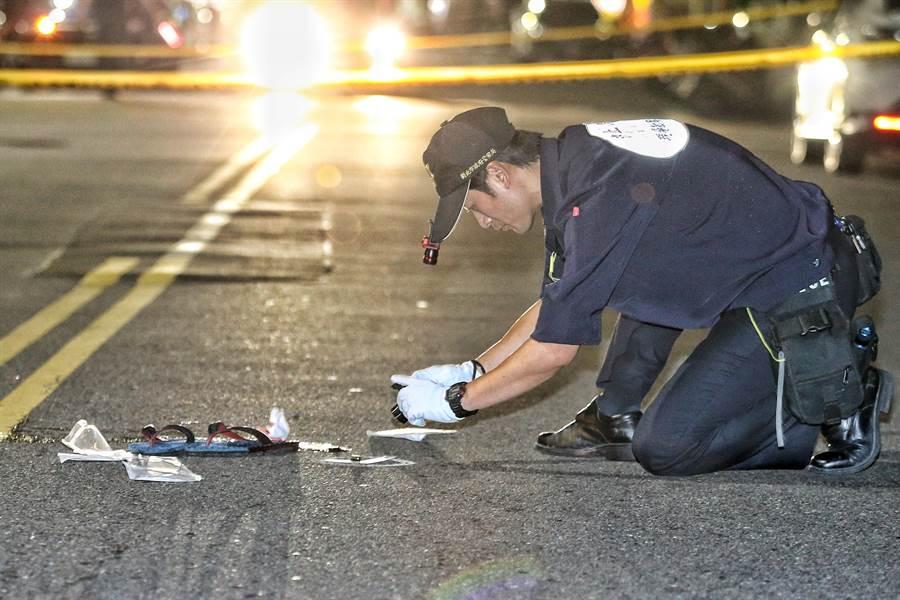 新北市汐止區福德一路24日凌晨發生一起槍擊案。(杜宜諳攝)