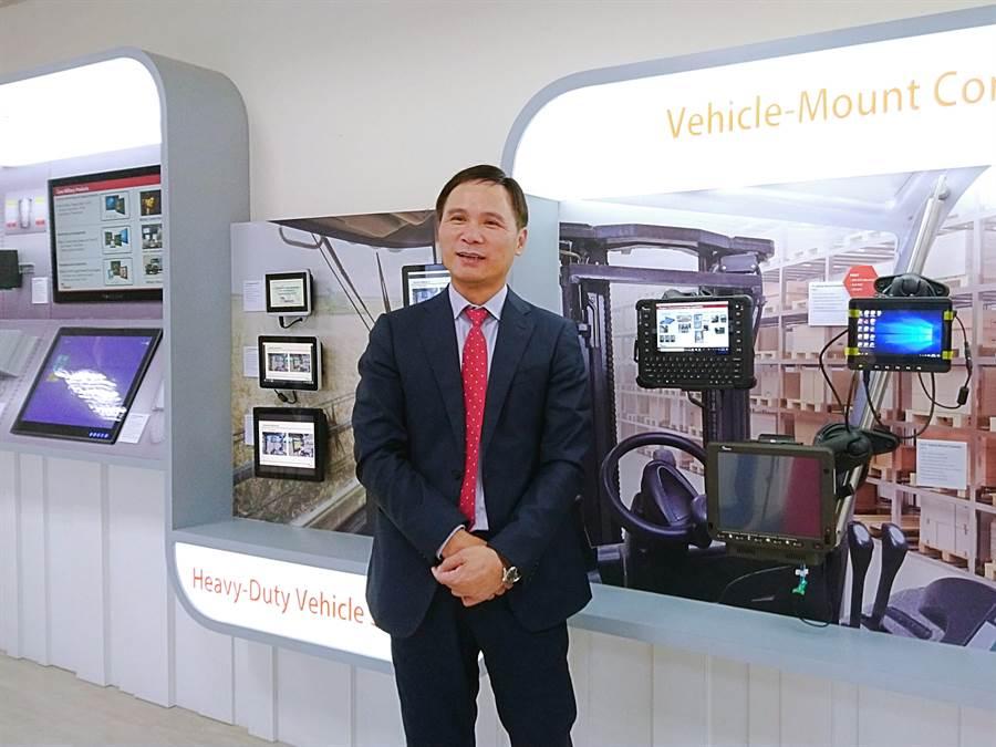 工業電腦廠融程電董事長暨總經理呂谷清。(林資傑攝)
