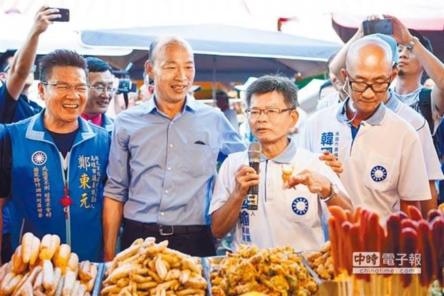 楊秋興(左二)請辭高雄市兩岸小組召集人。 (圖/資料照片)