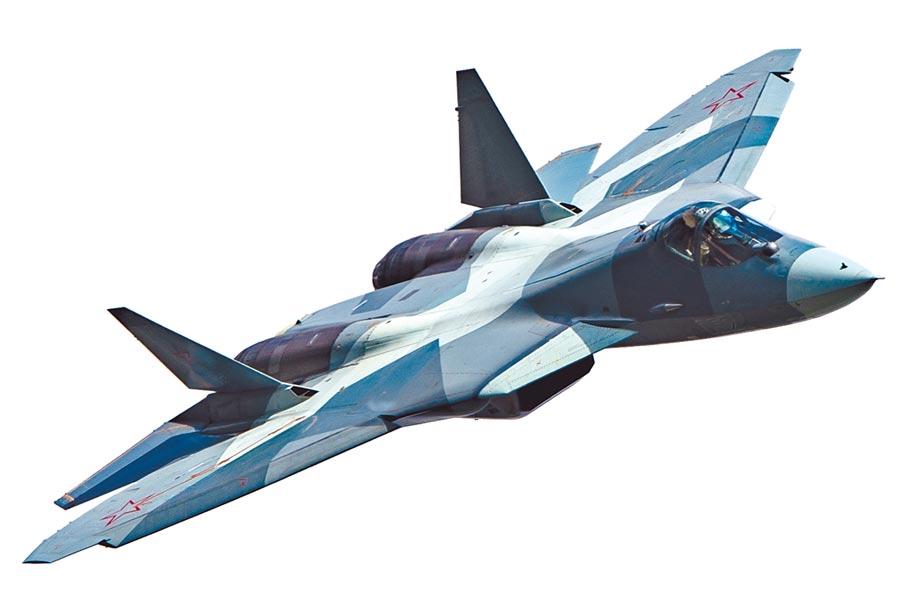 俄羅斯量產蘇-57戰機,關鍵的材料需從大陸進口。(CFP)