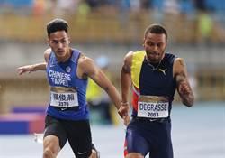 台灣田徑賽》最速男楊俊瀚百米10秒23摘銀
