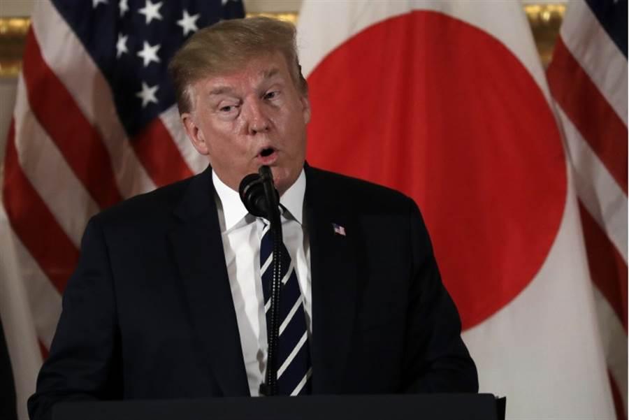 美國總統川普25日出訪日本,敦促日本企業加強投資美國市場。 (圖/美聯社)