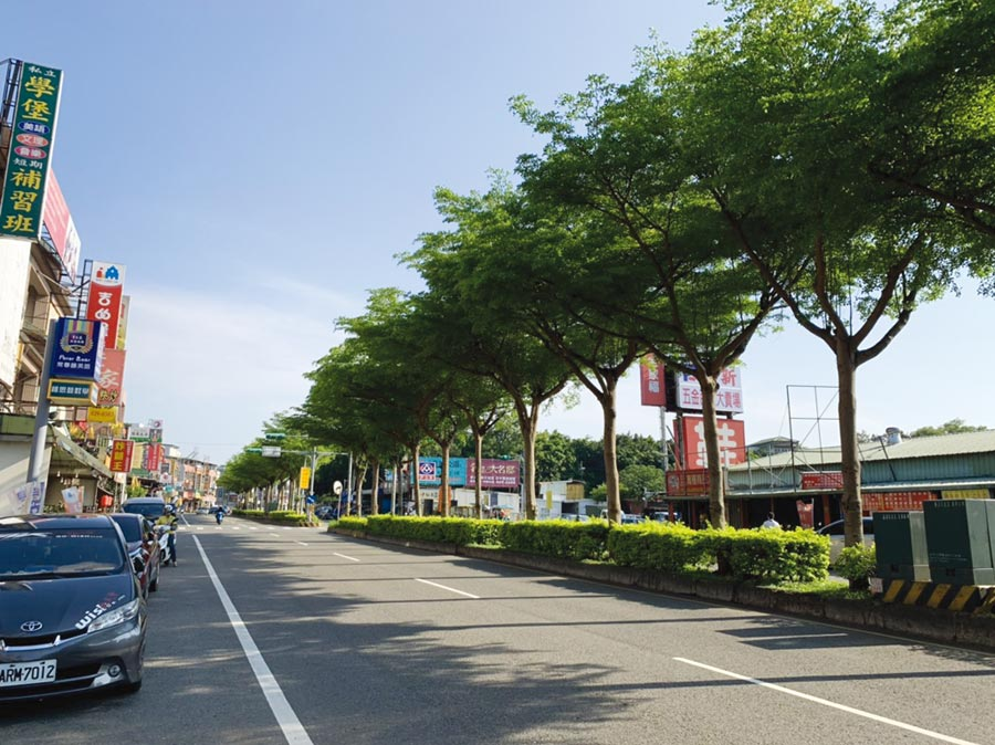 南势重划区生活机能集中于中丰路南势二段两侧,学校、绿地、公园一应俱全。图/永庆房产集团提供