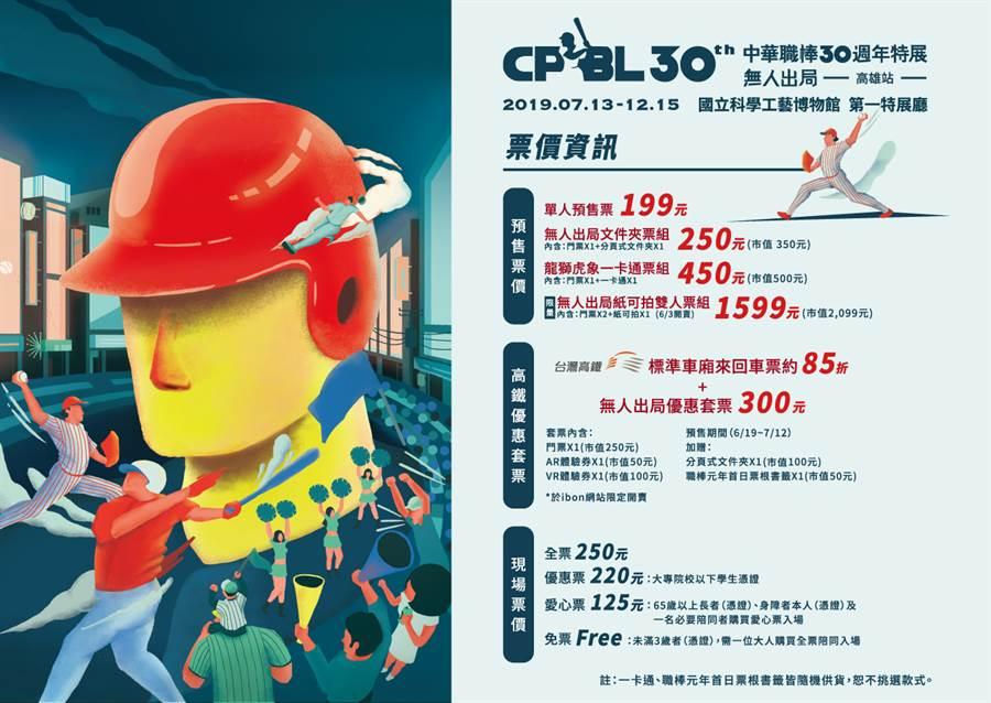 中華職棒30週年展,高雄站票務資訊。(中華職棒提供)