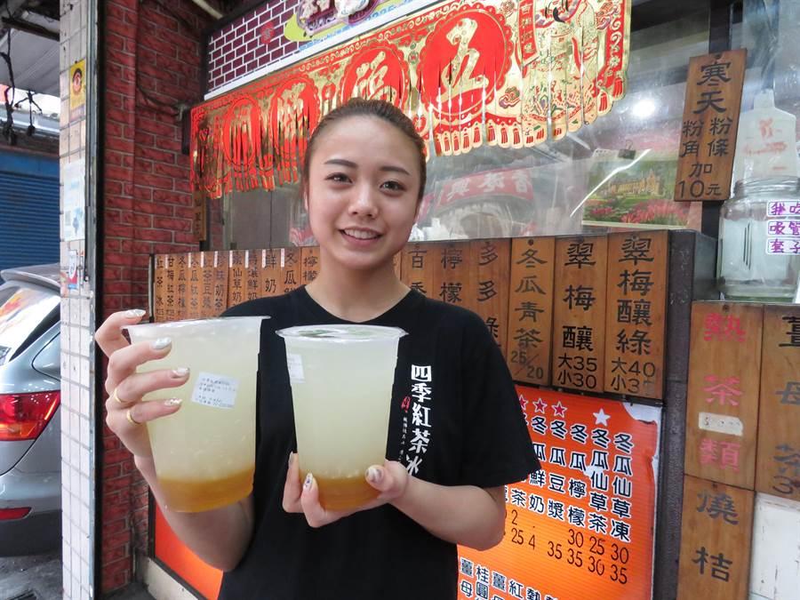 位於新北市中和區民享街的「四季古味紅茶冰」創業至今逾10年,店內販售的金桔檸檬有不少消費者愛戴。(葉書宏攝)