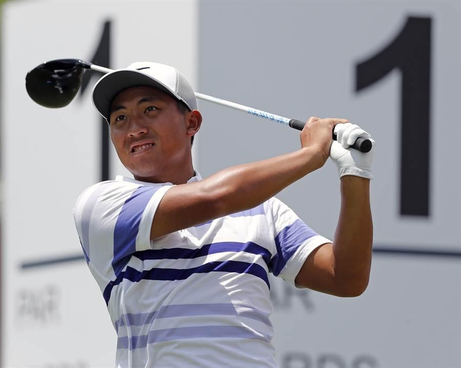 潘政琮在嘉信挑戰賽三回打完,僅落後領先者2桿,有機會挑戰個人第2座PGA巡迴賽冠軍。(美聯社)