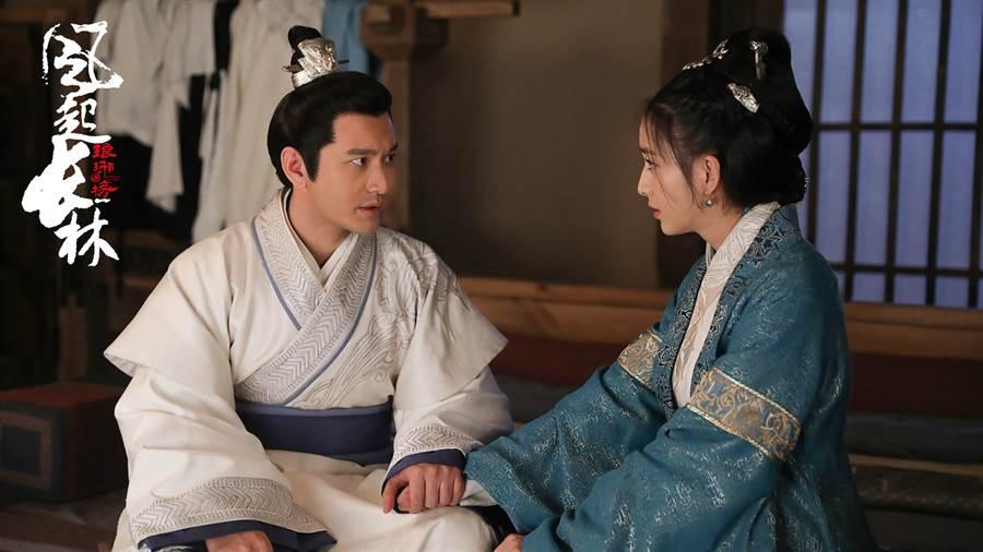 黃曉明(左)佟麗亞。(緯來)