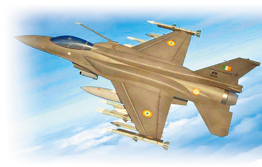 F-16V有安裝新型相位陣列雷達,圖為洛馬與印度合作的F-16IN型機種,合作後已改名F-21。(取自洛克希德馬丁公司網站)