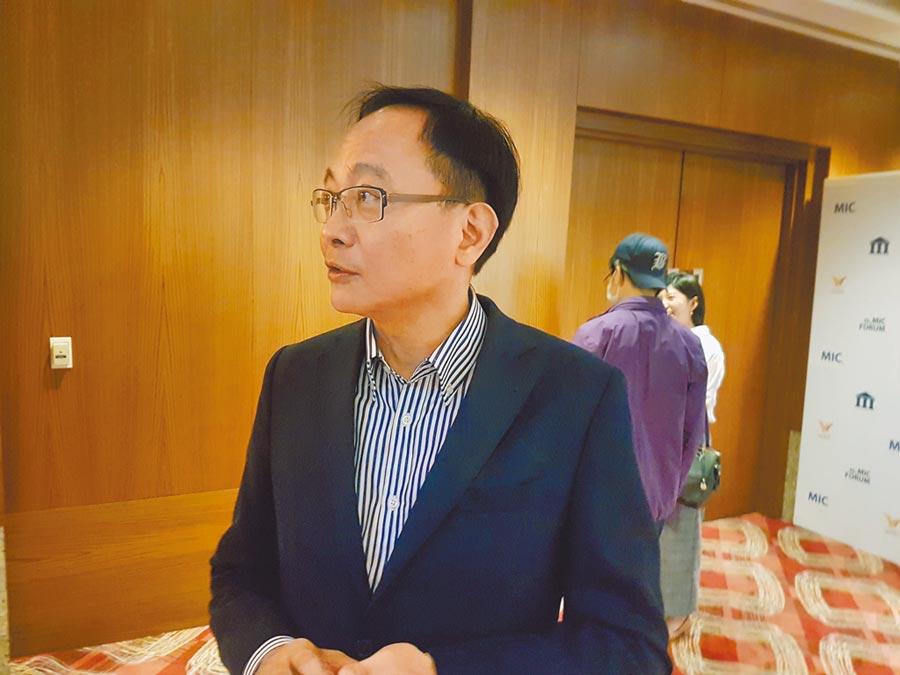 凌華科技董事長劉鈞(記者許昌平攝)