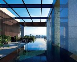 台北中山區最新高樓景觀無邊際泳池開放