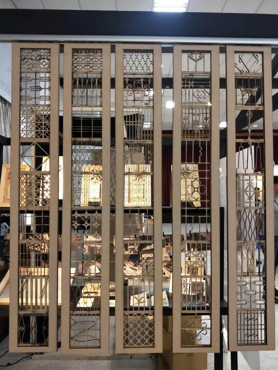 「築跡」把鐵窗花分成幾何、動植物、緊密排列、繾綣共4大類,榮獲文資類特別獎。(陳淑娥攝)