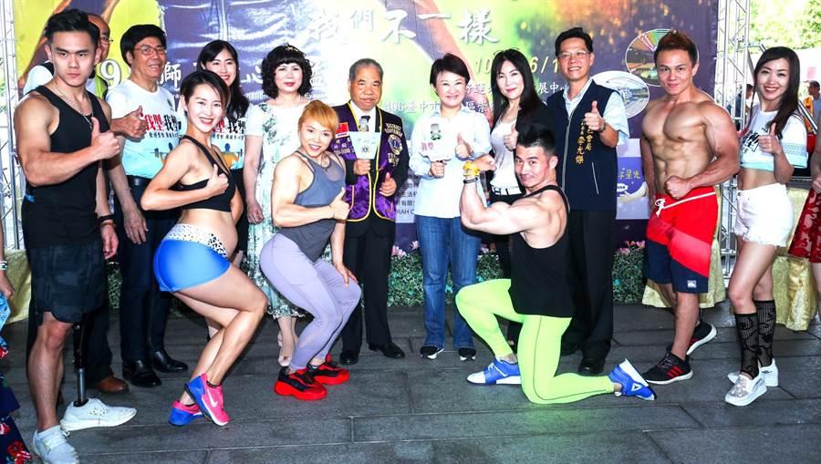 中獅盃健身健美表演賽開放報名,售票收入捐助家扶基金會。(盧金足攝)
