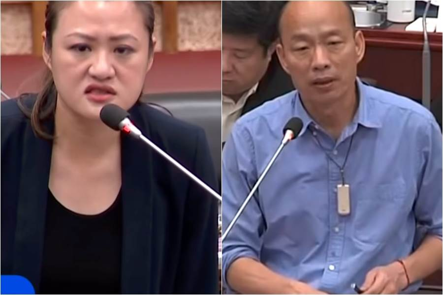 對戰綠議員!韓國瑜一個move…不讓見縫插針。(圖/中天新聞)