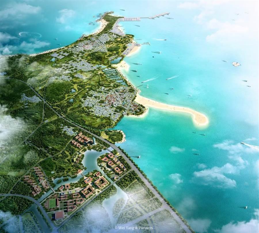 英國城市規劃設計師楊威及合夥人城市規劃事務所共同編制的「晉江人才夢想小鎮創建規劃」圖示。(主辦單位提供)