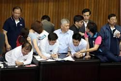 立院審中選會主委人事案,藍綠搶占主席台