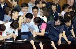 中選會人事案 藍綠立委數度衝突
