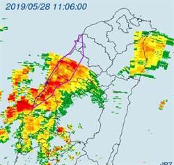 中部大雷雨警戒 5縣市防劇烈降雨強陣風