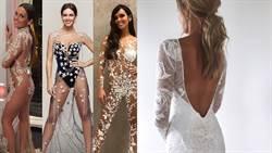 「透視裝」襲捲婚紗市場!新娘大展雪乳、美腿、翹臀
