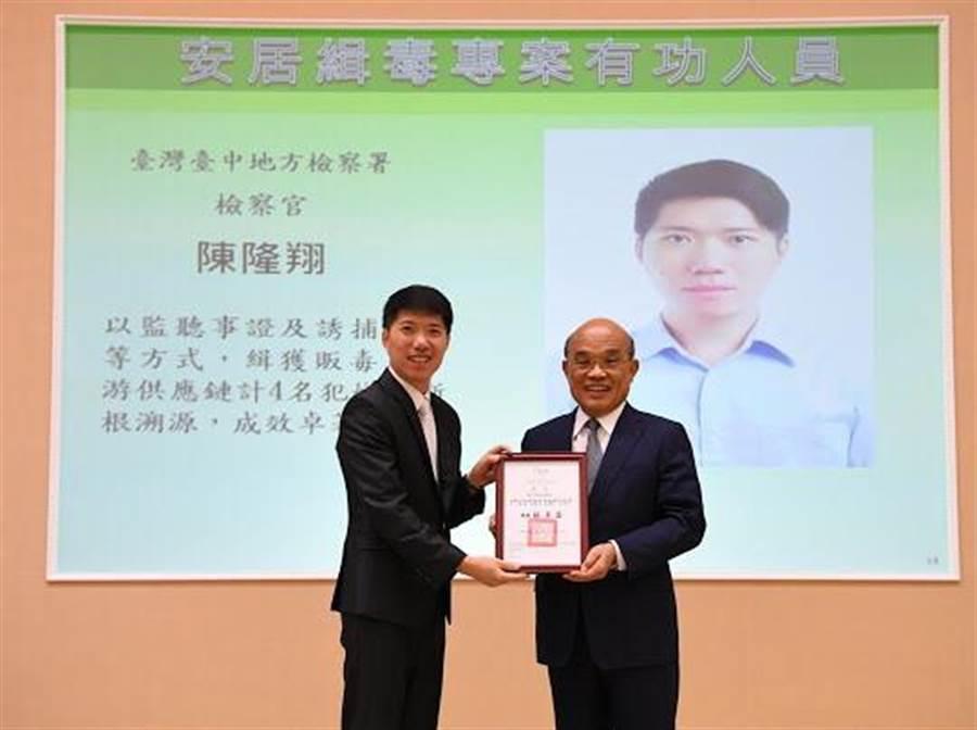 台中地檢署檢察官陳隆翔(左)。(資料照片)