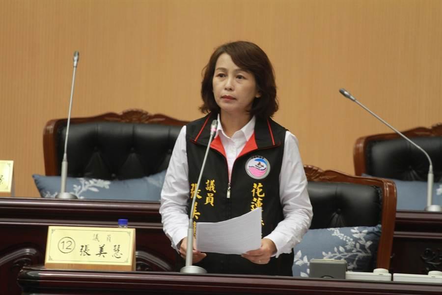 縣議員張美慧要求縣府衛生局有效防堵醫院暴力事件。(范振和攝)