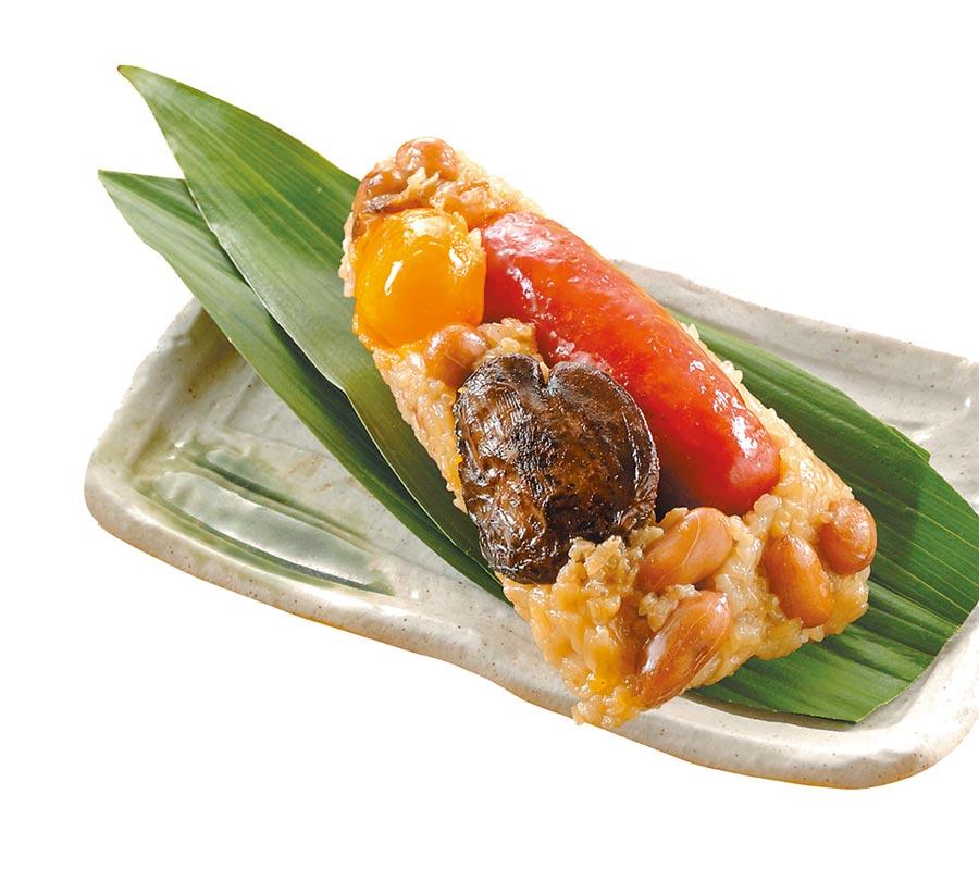 OK超商黑橋牌冠軍香腸粽,5入520元。(OK提供)