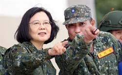 漢光反機降操演 蔡總統穿迷彩服視察