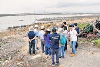 伸港垃圾海堤 漁民便道清乾淨了