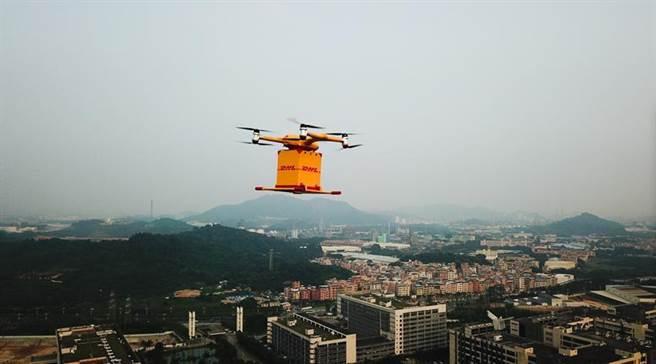 (DHL國際快遞首度於中國推出全自動智慧型物流無人機遞送服務。圖:DHL提供)