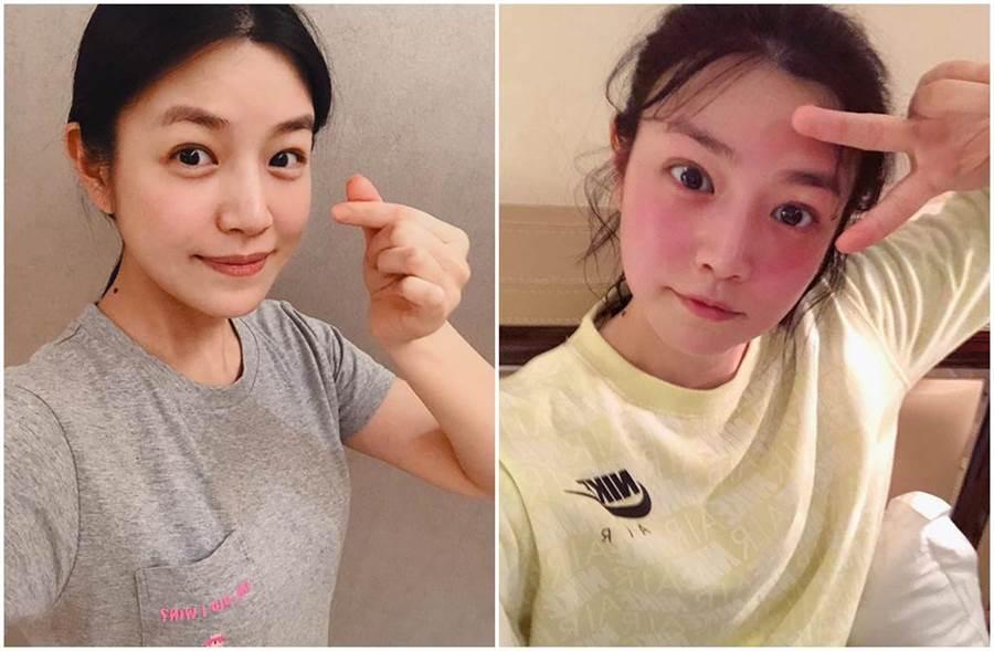 陳妍希跑步1個月曝體重未減腿還變粗。(圖/ 陳妍希臉書)