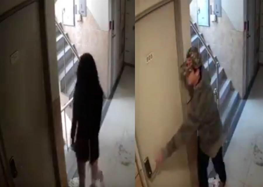 嫩妹回家遭尾隨 怪男行為超驚悚(圖/ 翻攝自推特影片)