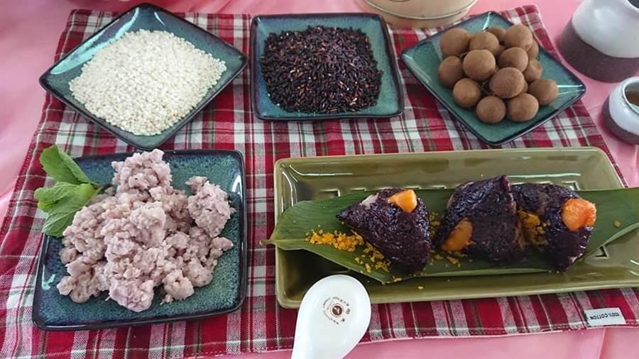 西港農會結合台灣越光米、本產胡麻舉辦創意包粽大賽。(西港農會提供)