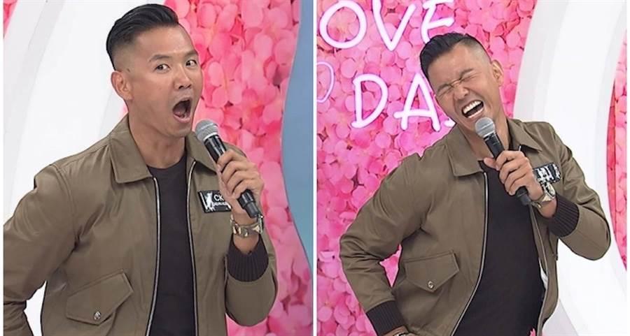 陳建州在主持節目中表情生動。中天提供