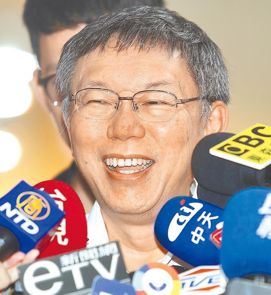 台北市長柯文哲。(季志翔攝)