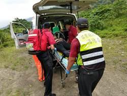 泰安觀止橋釣客墜溪 無生命跡象送醫
