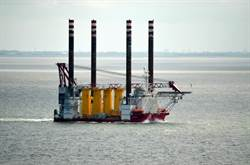 風機安裝自昇式平台船Seajacks Zaratan首航台中港