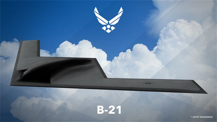 美國新一代B-21突襲者隱形戰略轟炸機已從設計階段進入建造與測試階段,計劃進行時程與內容極度保密。(圖/美國空軍)