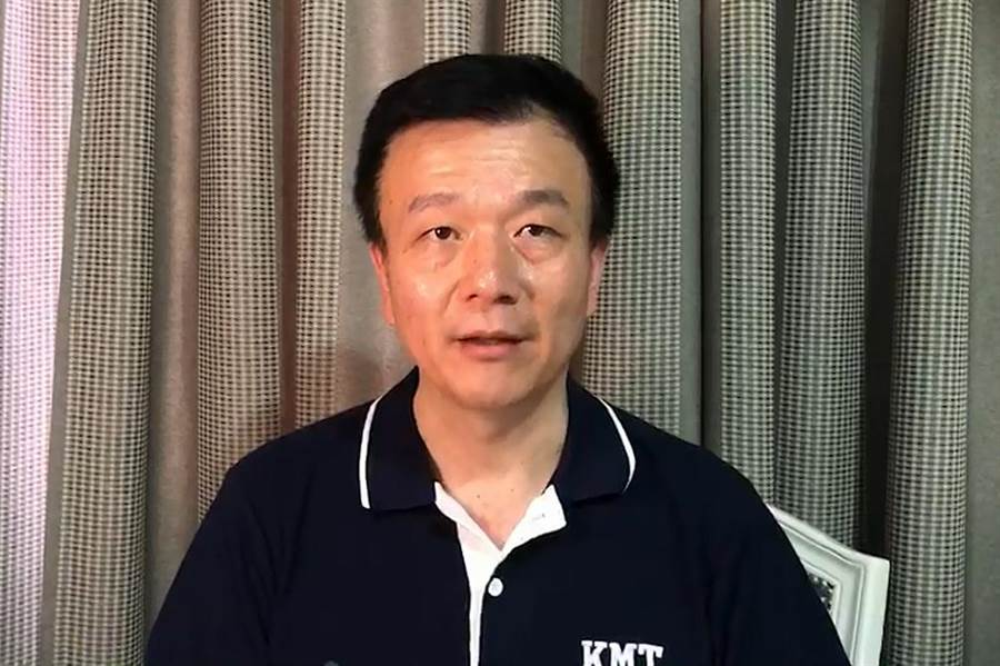 黃國園黨部主委于北辰表示,6月1日軍系並沒有特別動員,大家都是自發性參與。(甘嘉雯攝)