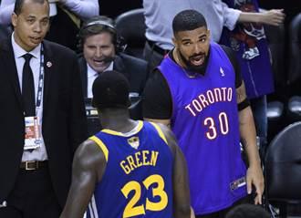 NBA》威脅對手?Drake賽後嗆格林垃圾