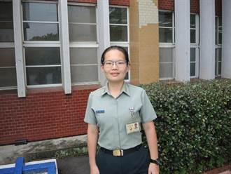 百名軍校畢業生中唯一 她自願分發前線離島