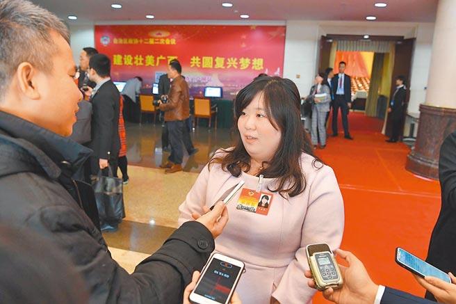 2019年1月25日,廣西師範大學台籍教師王孟筠接受記者採訪。(中新社)