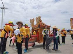 300來南瑤宮媽祖首次環台1圈 怪手也來助陣淨灘護海洋