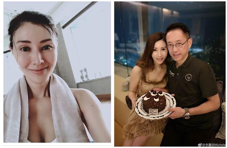 48歲李嘉欣與富商尪結婚超過10年,近日一張超兇運動照近日突在網上瘋傳。(取自李嘉欣微博、東網)